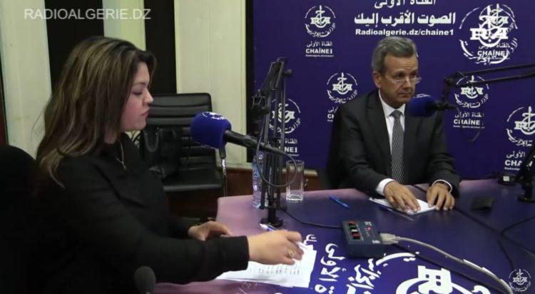 وزير الصحة عبدالرحمان بوزيد لدى نزوله ضيفا على القناة الاولى
