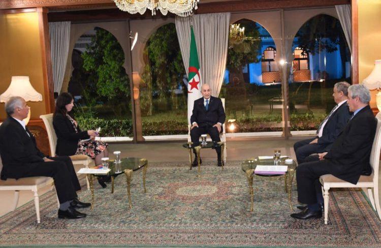 لقاء الرئيس تبون مع الصحافة