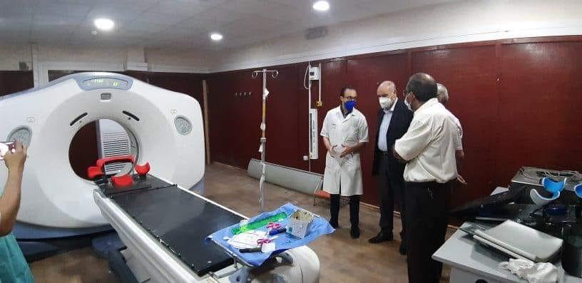 زيارة والي ورقلة الاحد 3 ماي 2020 الى مصلحة الاشعة بالمستشفى العمومي